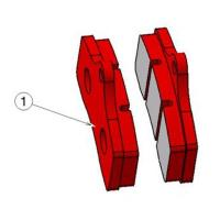 STR-V2 FRONT BRAKE PAD RED (1 pieces)