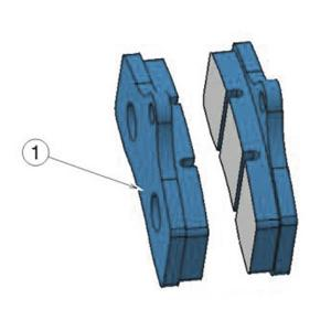 STR-V2 FRONT BRAKE PAD BLU (1 pieces) OPTIONAL
