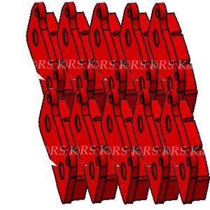 RBS-V2 REAR BRAKE PAD RED (10 pieces)