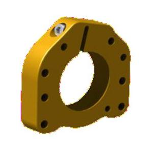 BEARING BUSH SUPPORT Ø52MM for Ø25mm axle TITAN GOLD ANODIZED MATERIAL ALUMINIUM