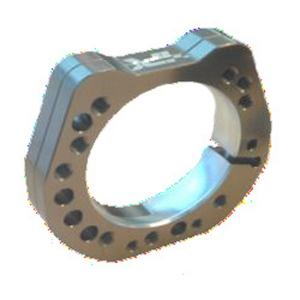 BEARING BUSH SUPPORT Ø80MM for Ø40-50mm axle TITAN GOLD ANODIZED MATERIAL ALUMINIUM