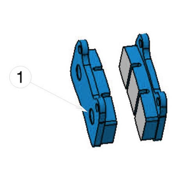 STR-V1 FRONT BRAKE PAD - MKB-V1 REAR BLU (2 pieces)