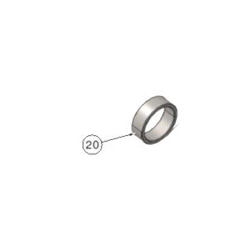 Ø25 SPINDLE SPACER H10MM WHITE GALVANIZED (10 pieces)
