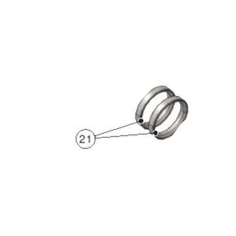 Ø25 SPINDLE SPACER H5MM WHITE GALVANIZED (1 pieces)