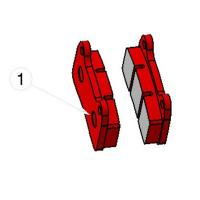 RBS-V2 REAR BRAKE PAD RED (1 pieces)