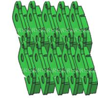 RBS-V2 REAR BRAKE PAD GREEN (10 pieces) OPTIONAL
